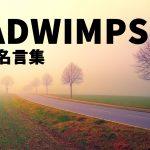 RADWIMPSの歌詞から見る名言⑦選!【意味を紐解く】